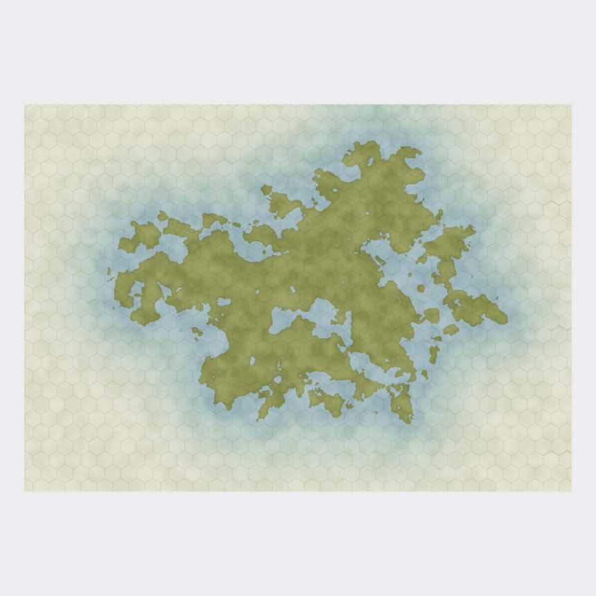 Unique fantasy map 0001 - hex grid