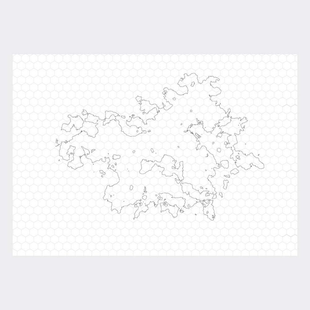 Unique line map 0001 - hex grid