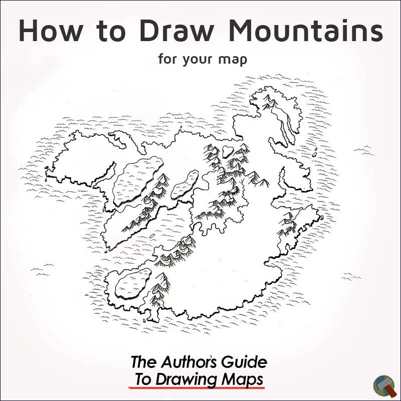 How to draw mountains on a map cover image