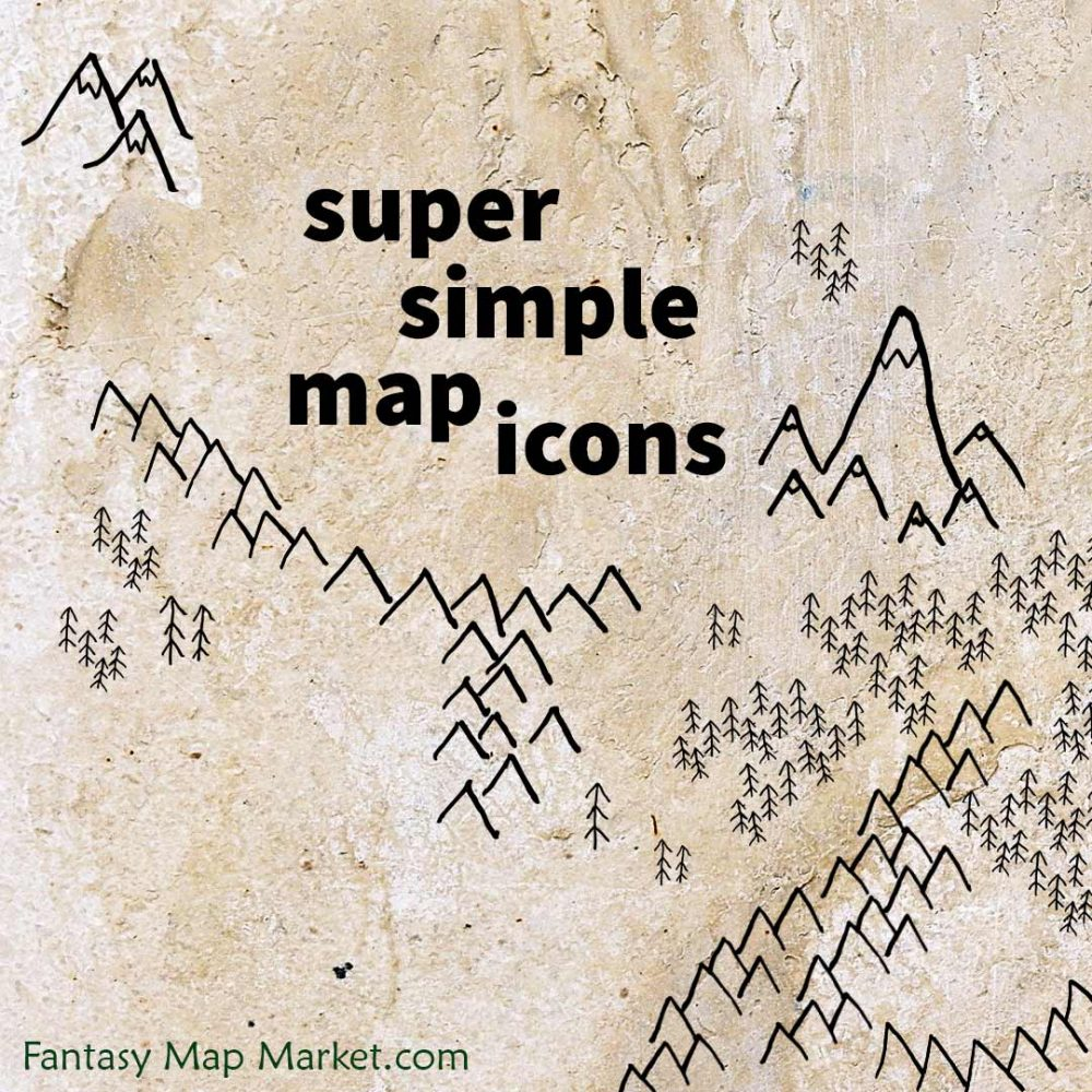Cover image for the super simple map icons pack.