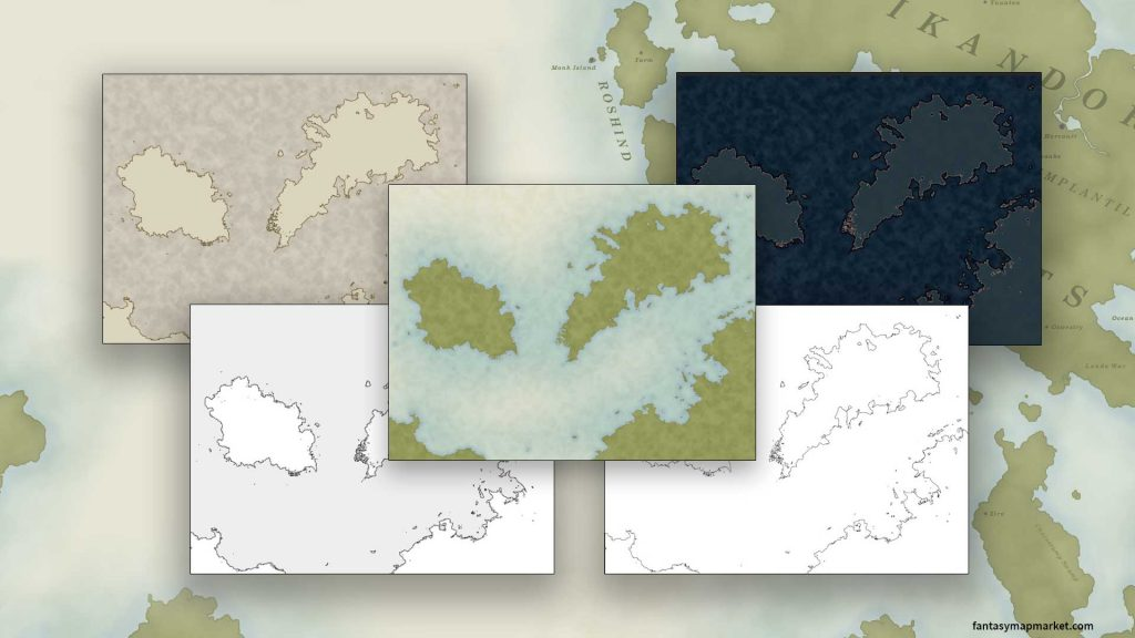 5 map styles available for the map generator